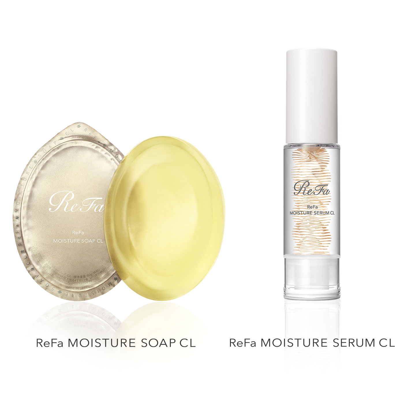 Keeping your skin balanced and leading to a beautiful, supple glow: ReFa MOISTURE SOAP CL and ReFa MOISTURE SERUM CL, on sale now