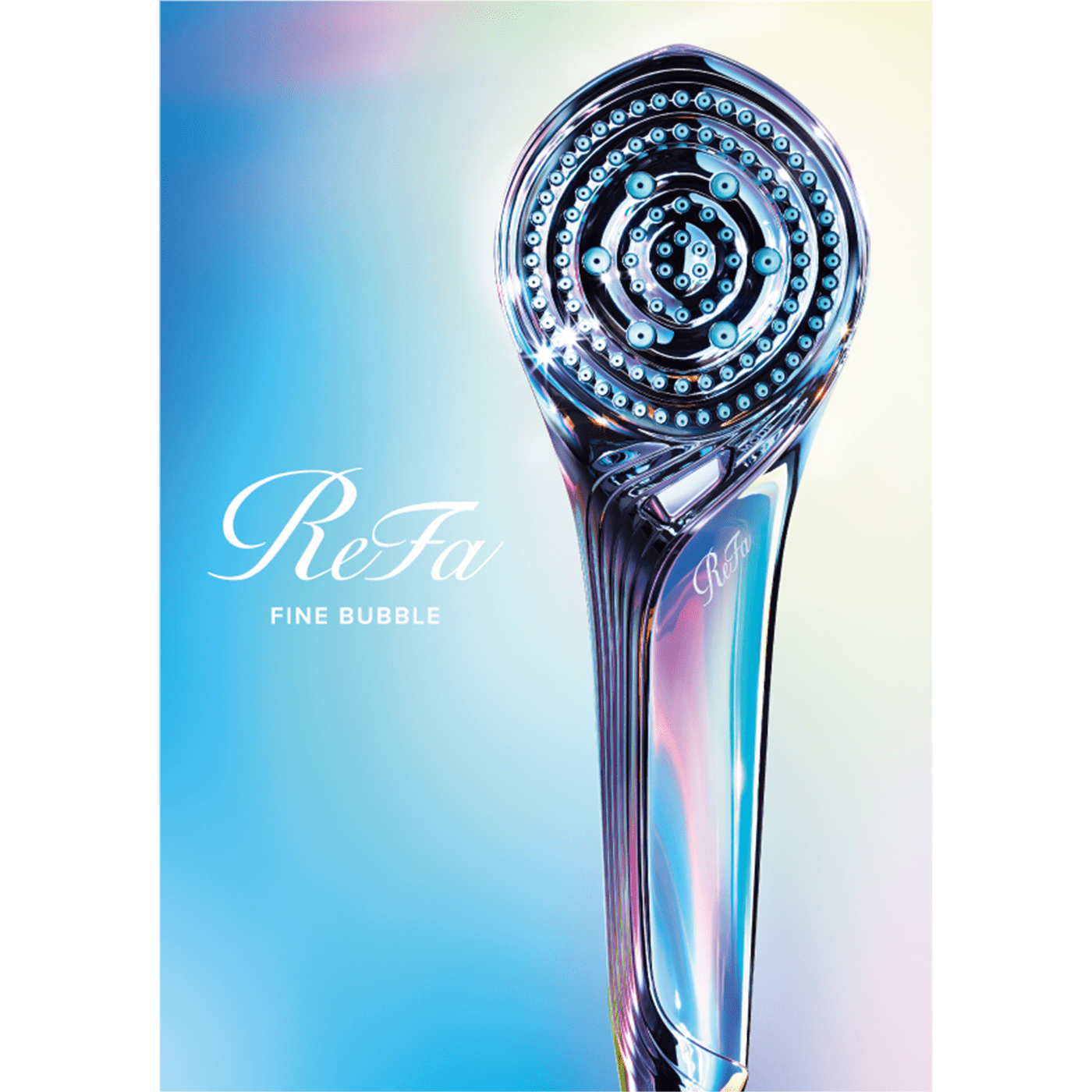 Introducing the ReFa FINE BUBBLE S: the newest high-tech shower head from ReFa that turns bath time into beauty time with an unprecedented number* of bubbles.