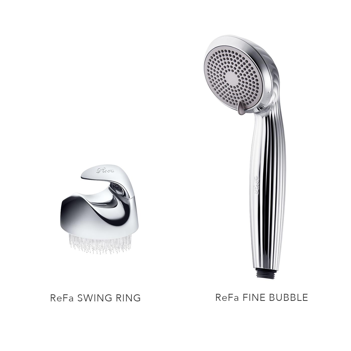 ReFaから初のシャワーヘッド&ブラシが誕生!肌を美しくする泡「ファインバブル」でやさしく汚れを落とし、輝く肌へ。