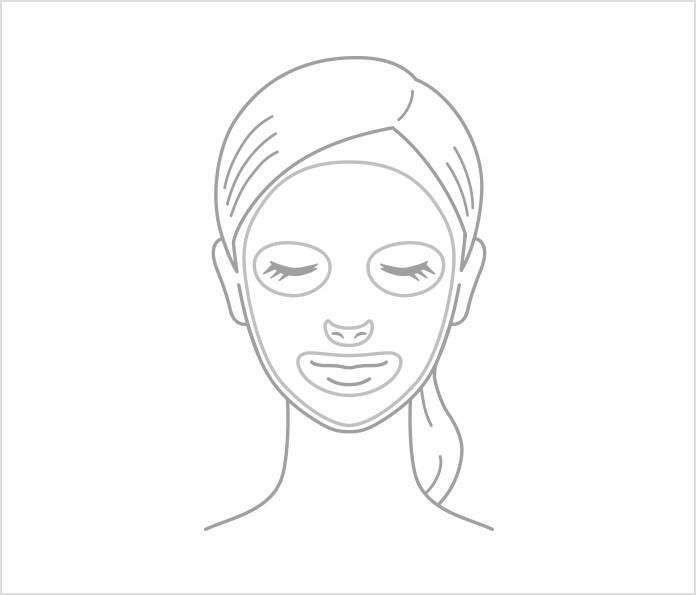 进行面膜等护肤步骤前的特殊护理.